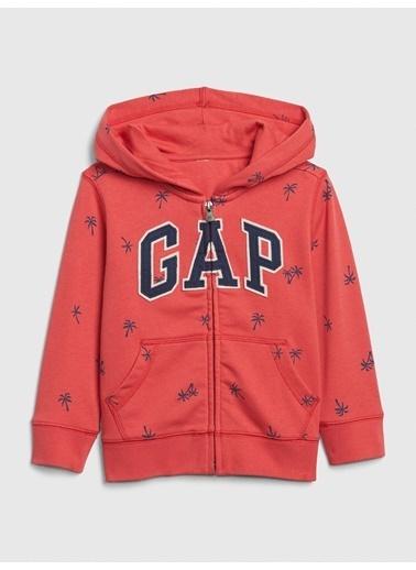 Gap Gap Logo Kapüşonlu Sweatshirt Kırmızı